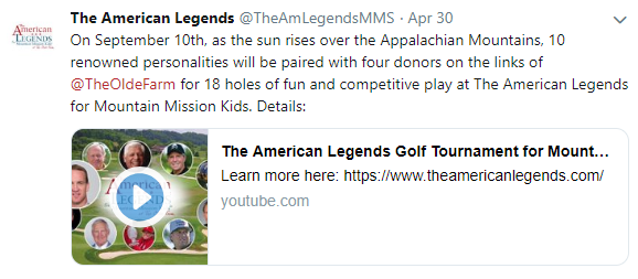 The American Legends Tweet